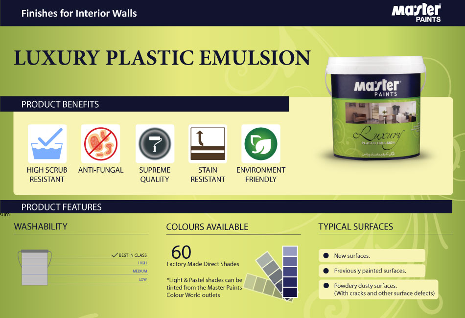 Sep - Luxury Plastic Emulsion